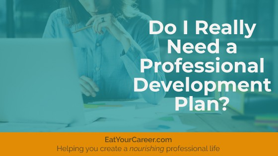 Do I Really Need a Professional Development Plan?